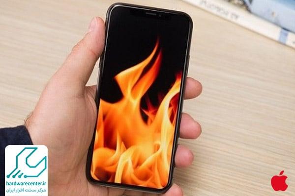 علت سوخت موبایل اپل