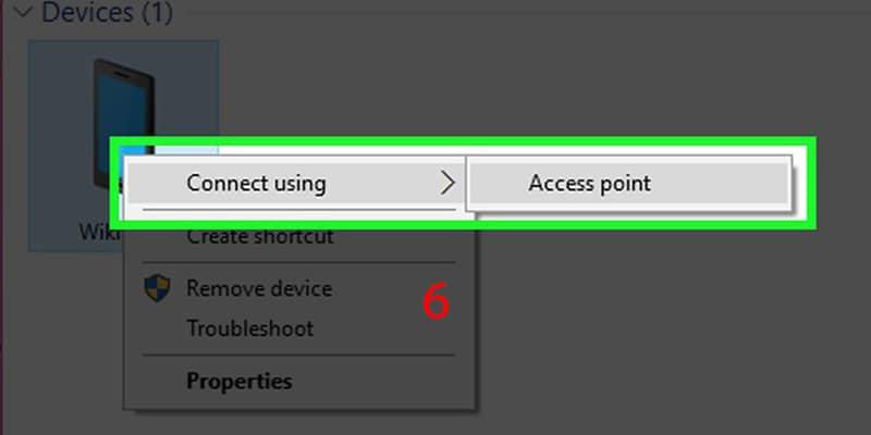 اتصال اینترنت آیفون به لپ تاپ به وای فای