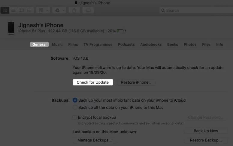 آپدیت IOS 15 با کامپیوتر و لپ تاپ